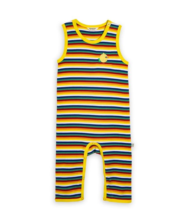 ORGANIC KID Capri Bodysuit With Printed Birdie