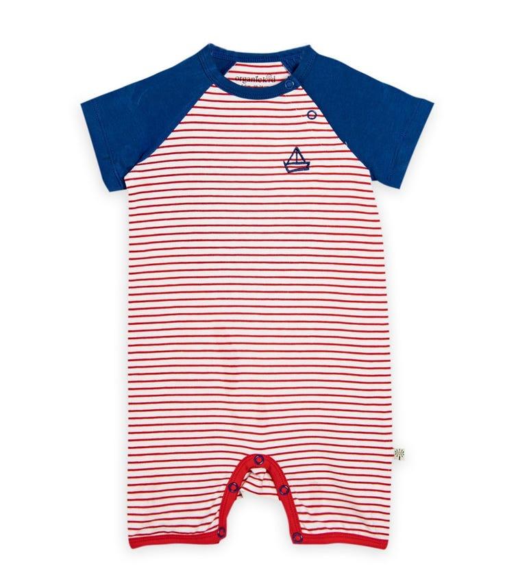 ORGANIC KID Sailor Capri Bodysuit