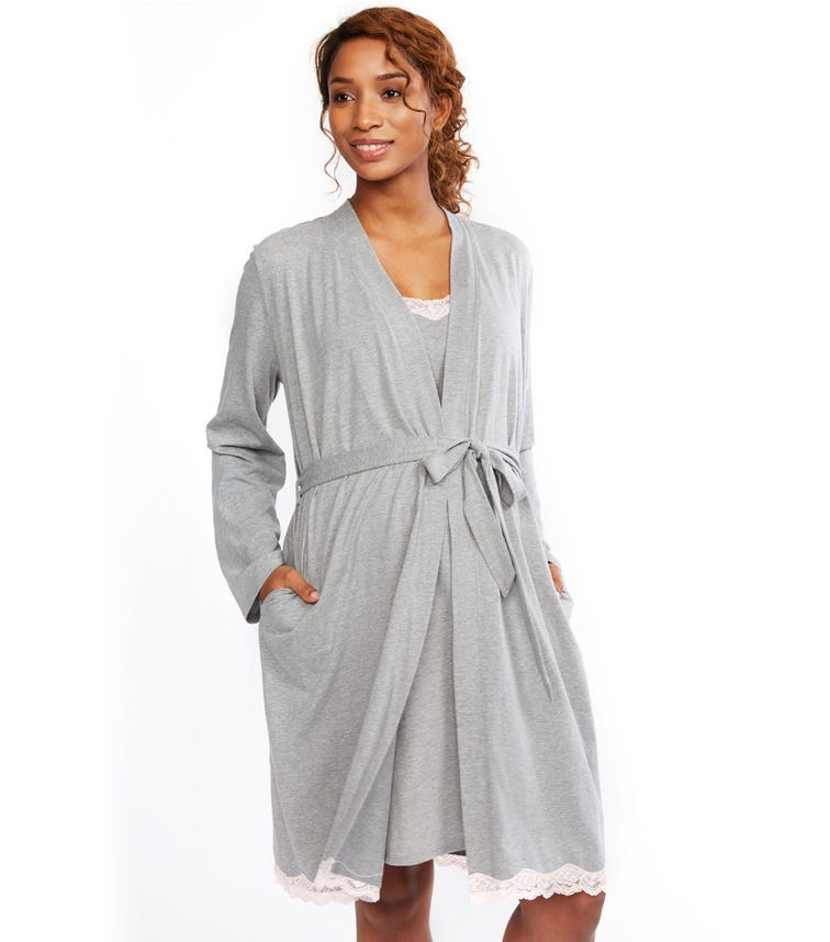 MOTHERHOOD MATERNITY Gown And Robe Set