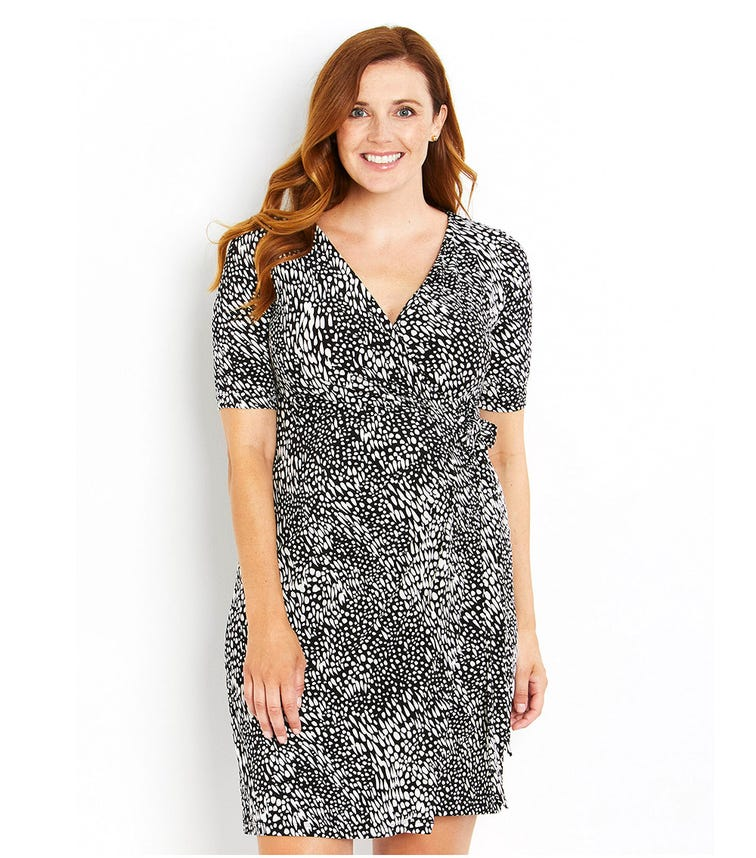 MOTHERHOOD MATERNITY Elbow Wrap ITY Dress