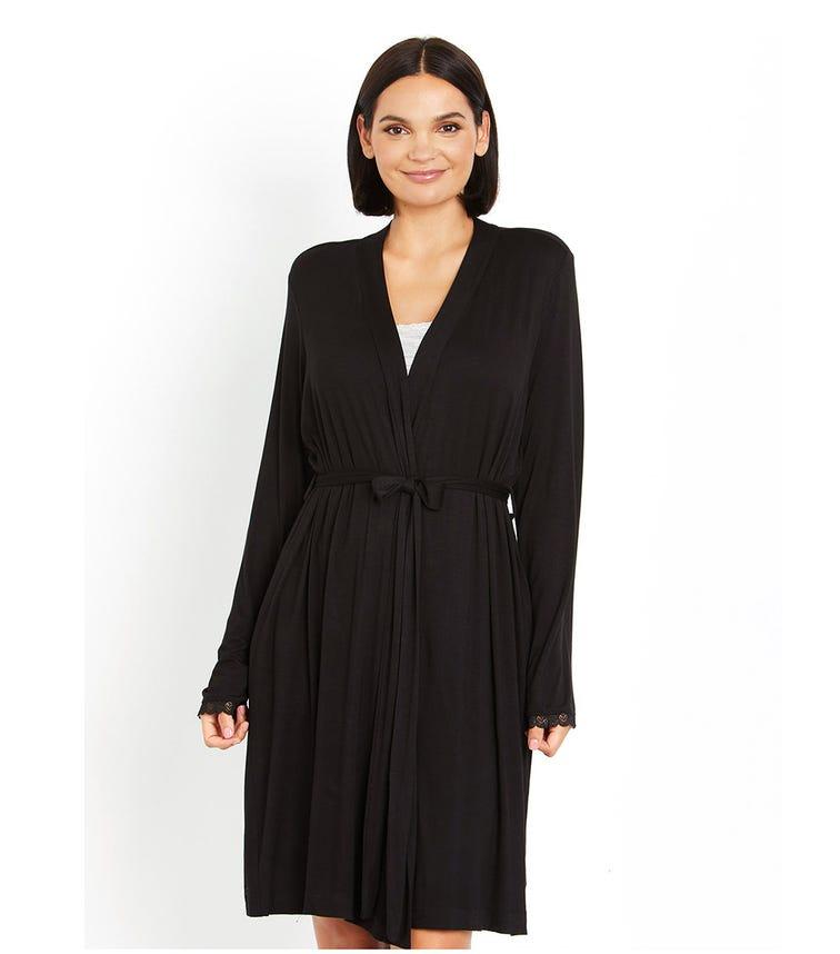 MOTHERHOOD MATERNITY Long Sleeve Robe