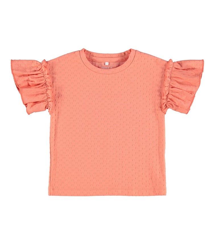 NAME IT Baby Girl Ruffle Sleeve T-Shirt