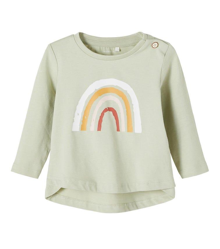 NAME IT Baby Girl Rainbow Print Long-Sleeved T-Shirt