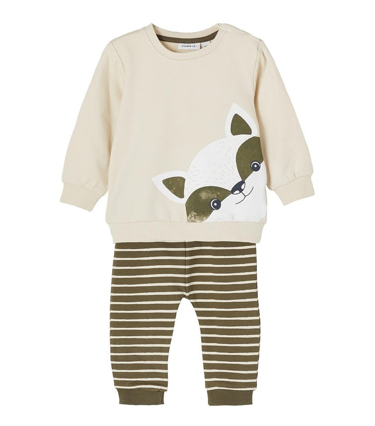 NAME IT Baby Boy Sweatshirt And Sweatpants Set