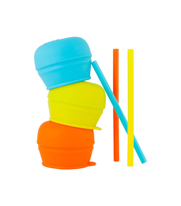 BOON Snug Stretchy Silicone Reusable Lids