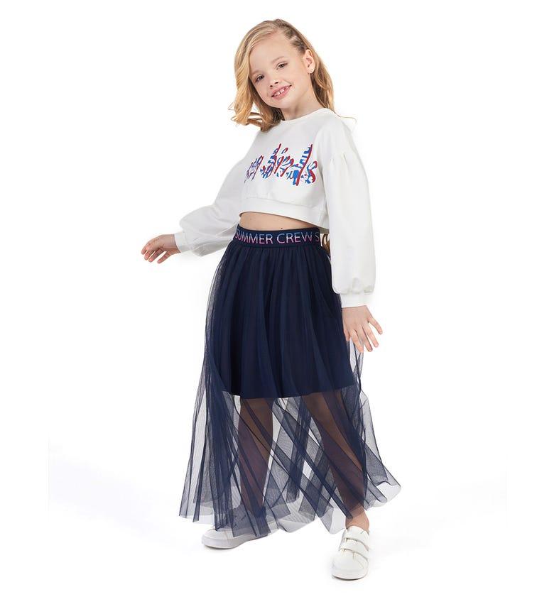 CHOUPETTE Ankle-Length Mesh Skirt