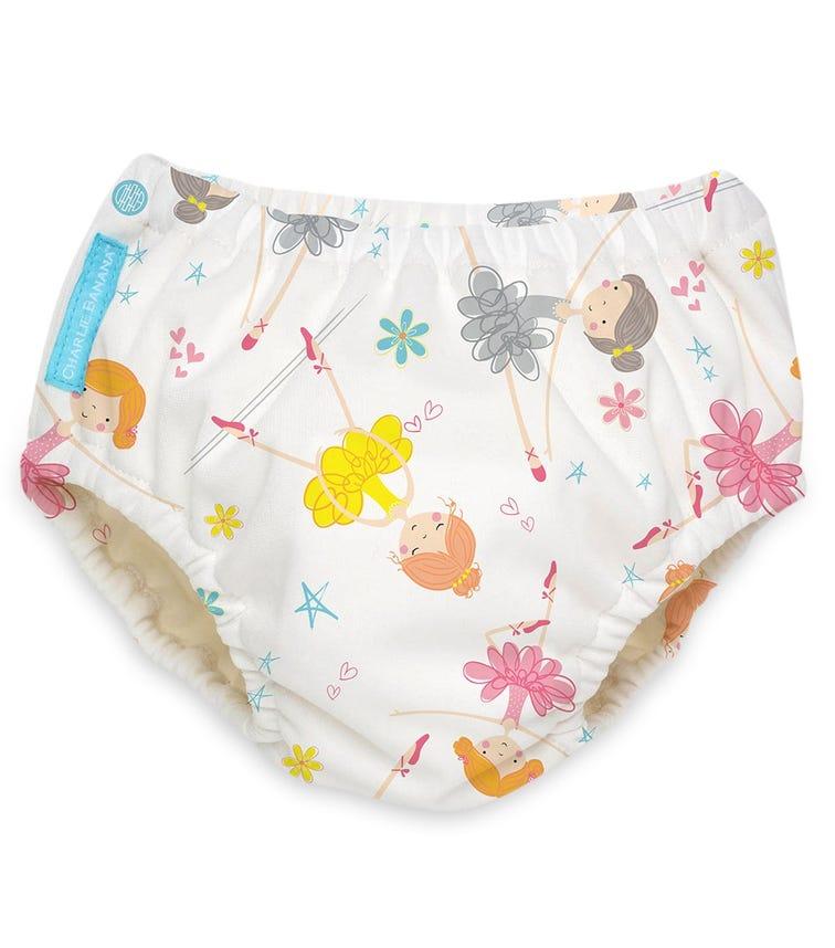 CHARLIE BANANA 2 In 1 Swim Diaper Training Pants - Diva Ballerina