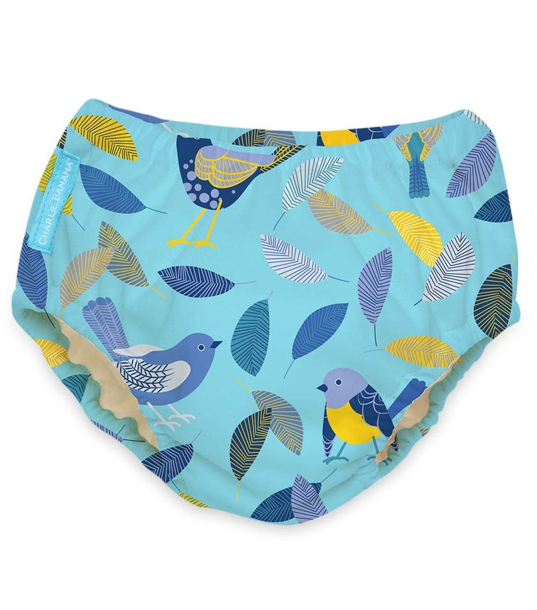 CHARLIE BANANA 2 In 1 Swim Diaper Training Pants - Twitter Birds