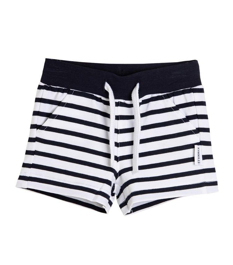 STUMMER Striped Shorts With Drawstring