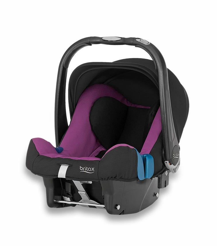 BRITAX Baby Safe Plus Car Seat SHR II From 0-13 Months Cool Berry