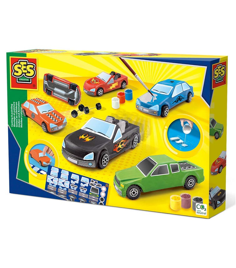 SES CREATIVE Casting & Painting - Cars & Wheels Mould Set