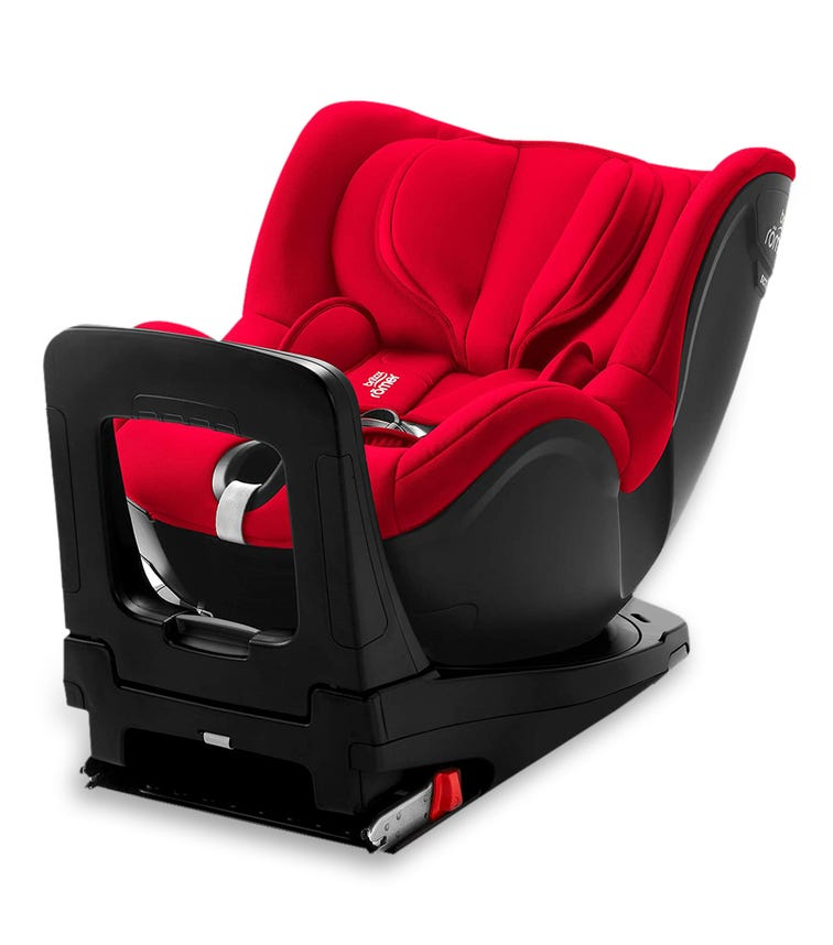 BRITAX Romer Dualfix I-size From 0-4 Years With ISOFIX Fire Red