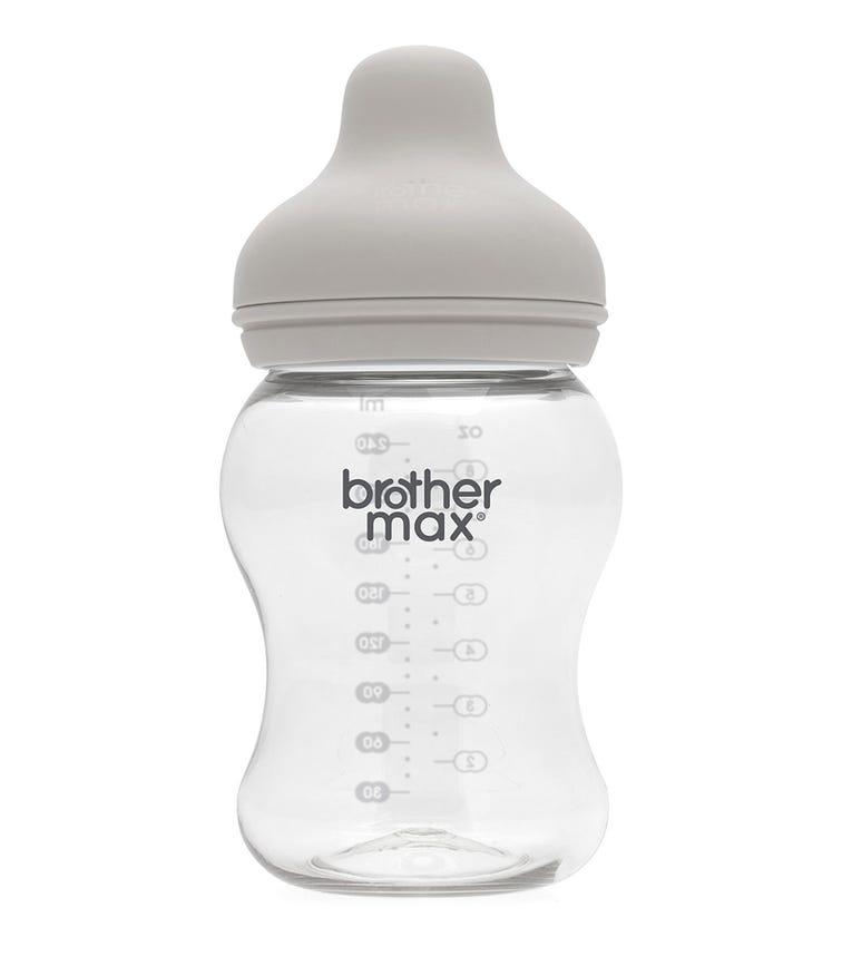 BROTHER MAX Extra Wide Neck Feeding Bottle 240ML/8Oz (Medium) Teat