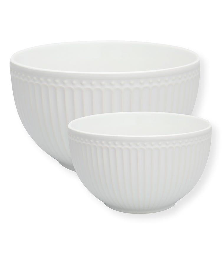 GREENGATE Serving Bowl Alice - White (Set Of 2)