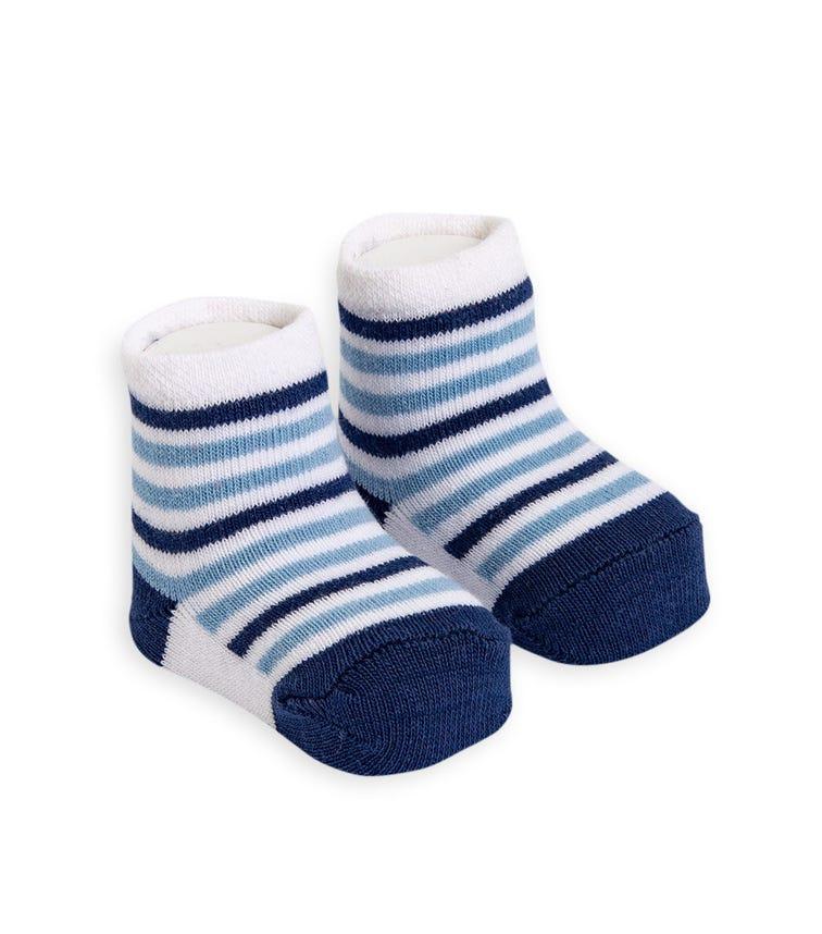 OLAY SOCKS Baby Socks - Blue Stripes