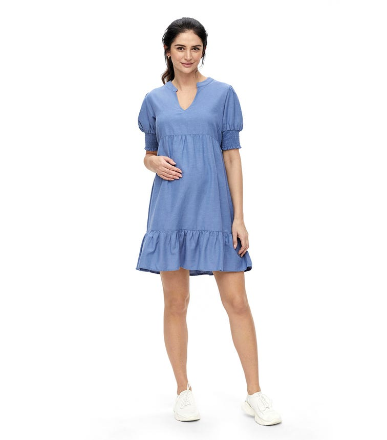MAMALICIOUS Mlchia 2/4 Woven Short Dress
