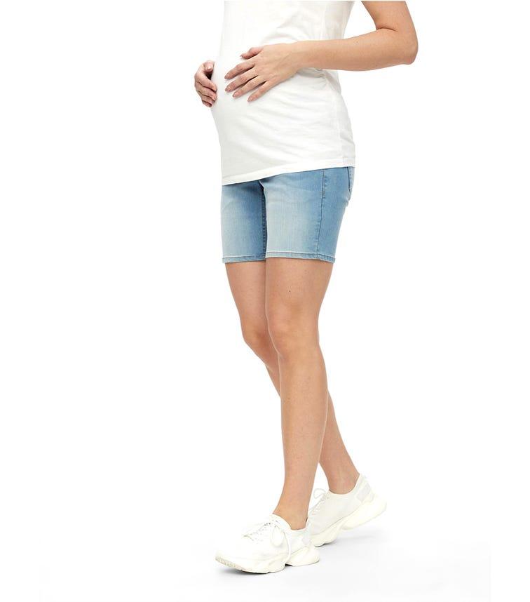 MAMALICIOUS Mlfifty Slim Light Blue Denim Shorts