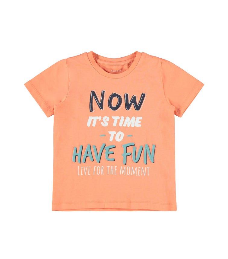 NAME IT Slogan Print T-Shirt