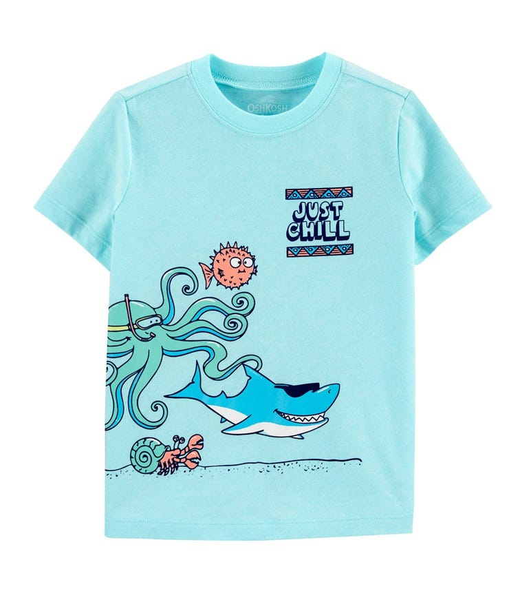OSHKOSH Sea Creatures Tee