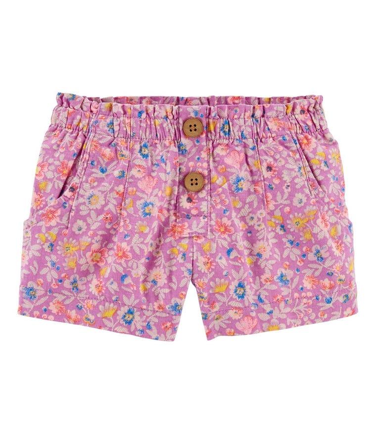 OSHKOSH Floral Linen Shorts
