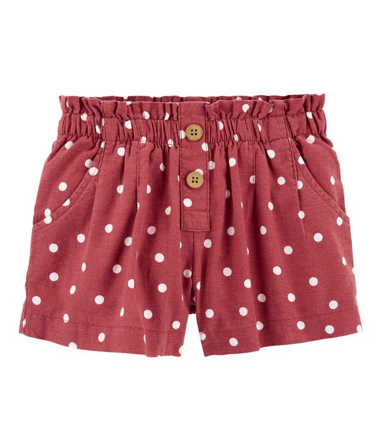 OSHKOSH Polka Dot Linen Shorts