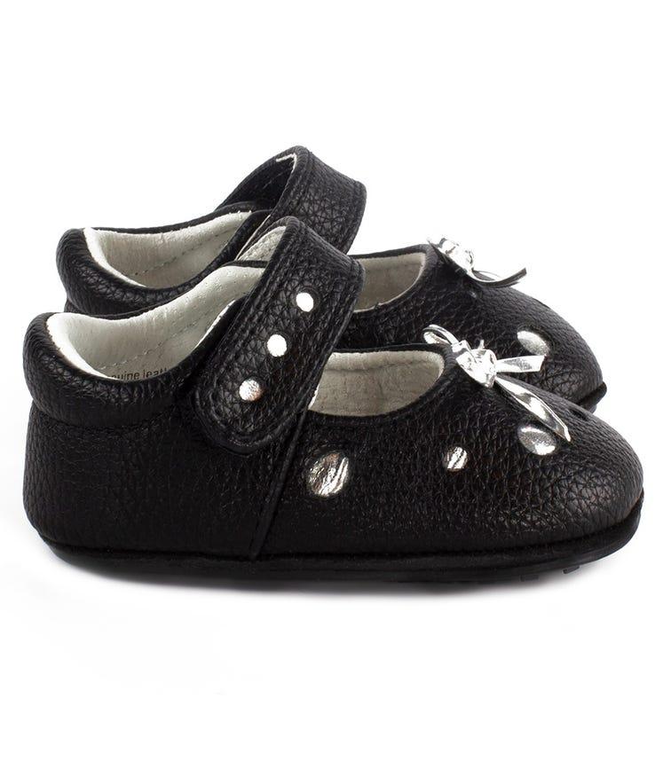 JACK & LILY Lia Polka Dot Sandals- Black