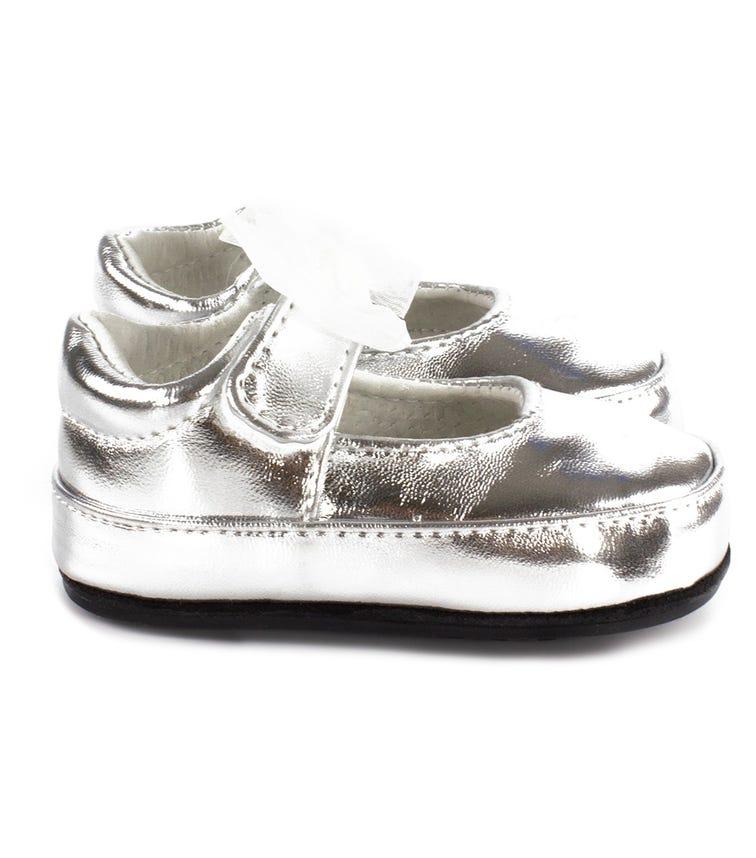 JACK & LILY Harper Ballet Shoes - Silver Metallic