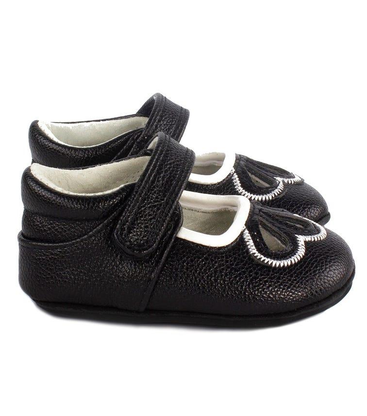 JACK & LILY Oaklynn Eyelet Shoes - Black/White