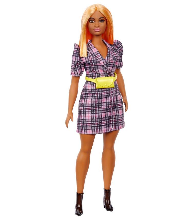 BARBIE Fashionistas Doll Puff Sleeve Plaid Blazer