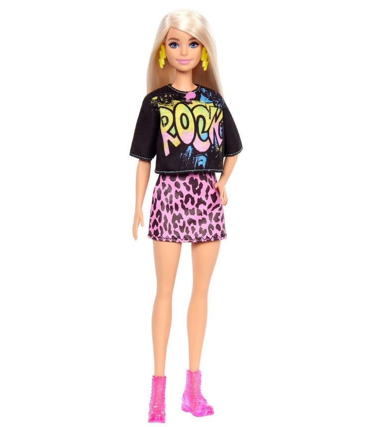 BARBIE Fashionistas Doll Rock Tee And Skirt