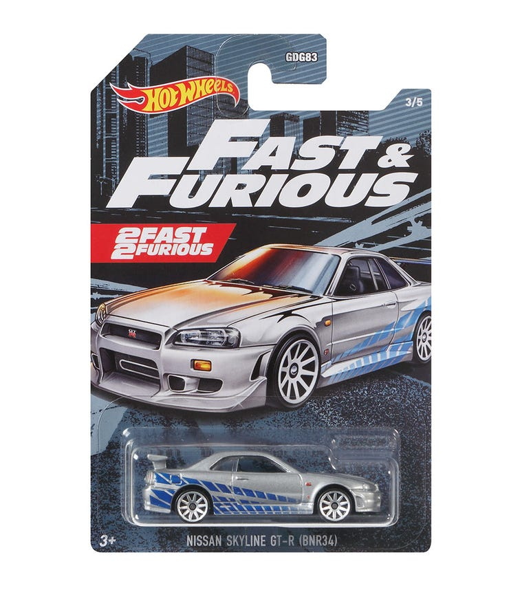 HOT WHEELS Themed Fast & Furious (Assorted)