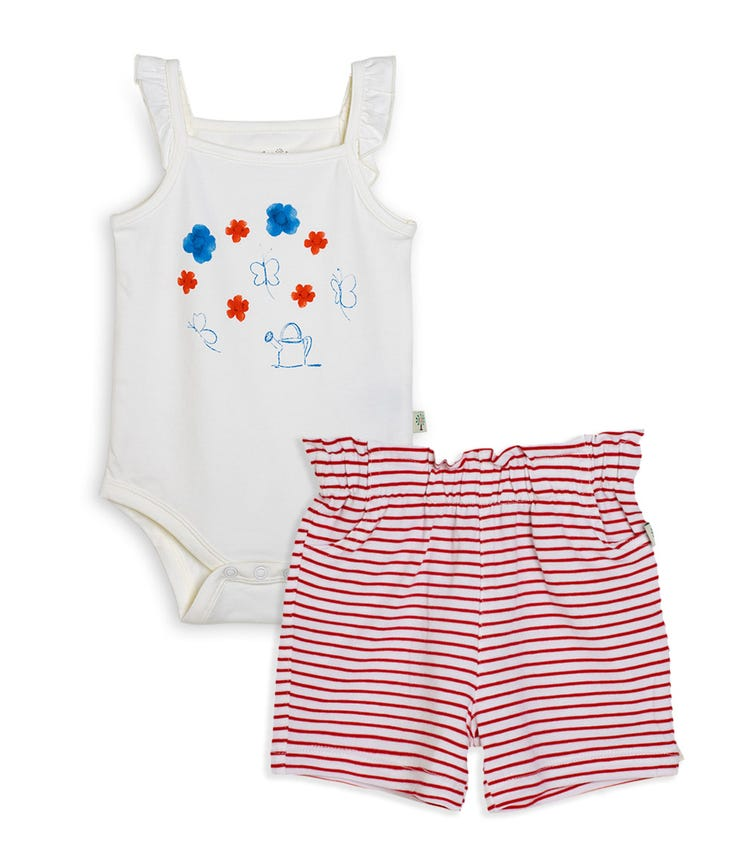 ORGANIC KID 2-Piece Bodysuit With Shorts