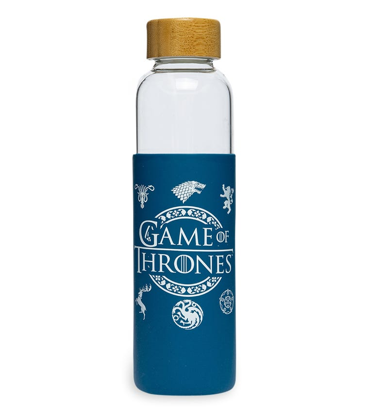 GAME OF THRONES Glass Bottle Silicone Cover 585 ML