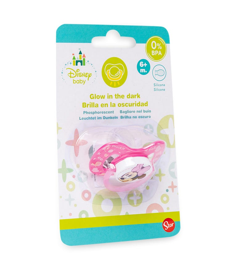 MINNIE Baby Symetrical Pacifier - Silicone (6M)