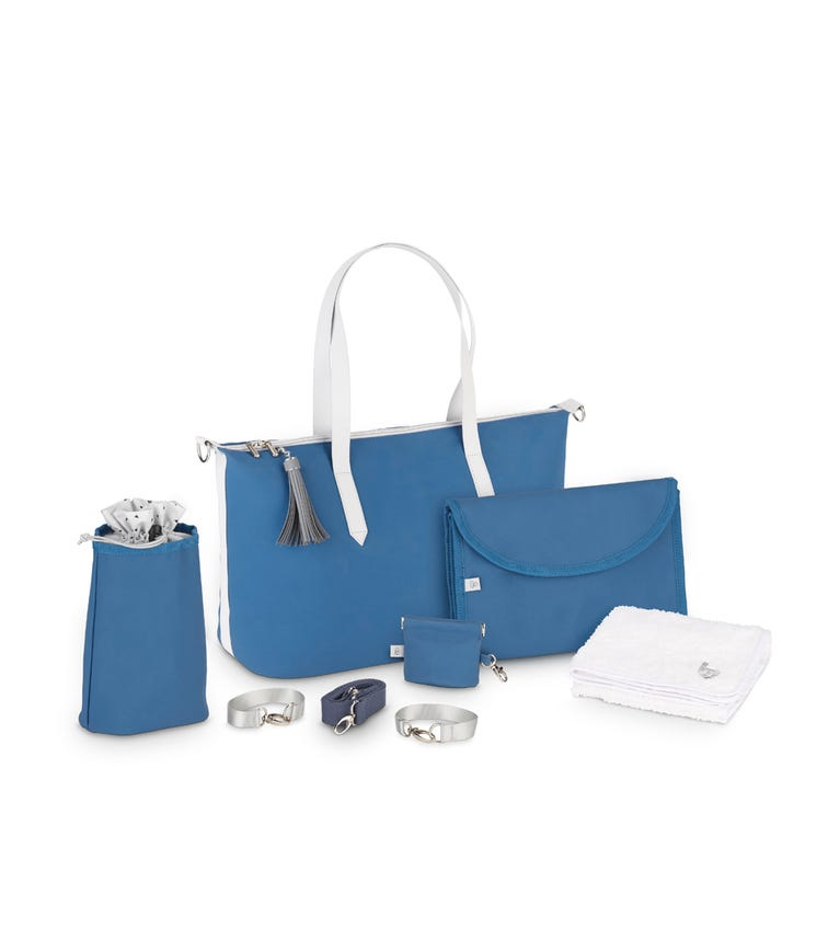 BABYMOOV Changing Bag Le Champ Elysees - Mineral Blue