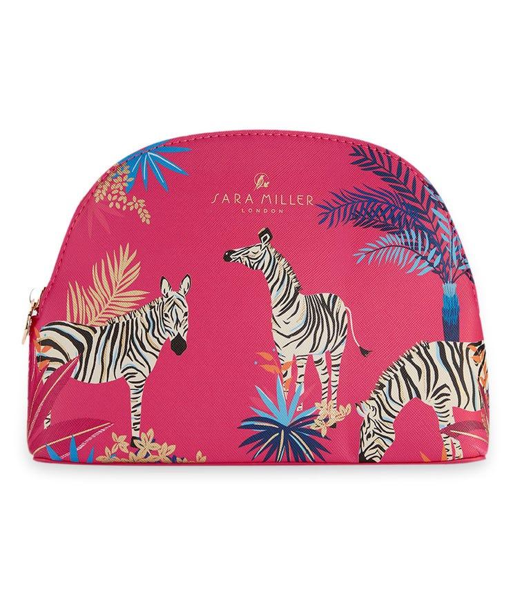 SARA MILLER Tahiti Red Cosmetic Makeup Bag (Medium)