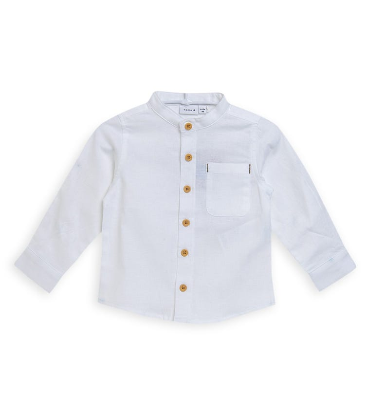 NAME IT Button Down Chinese Collar Shirt