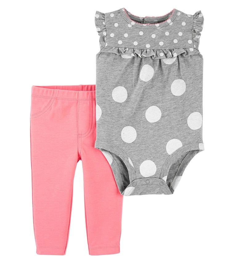 CARTER'S 2-Piece Polka Dot Bodysuit Pant Set