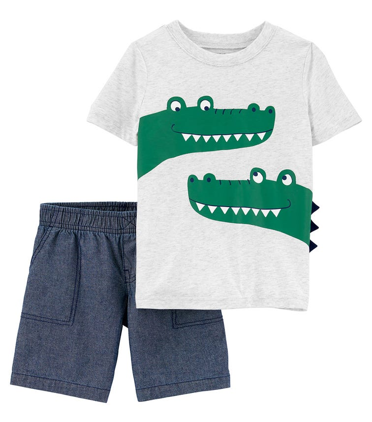 CARTER'S 2-Piece Alligator Tee & Short Set