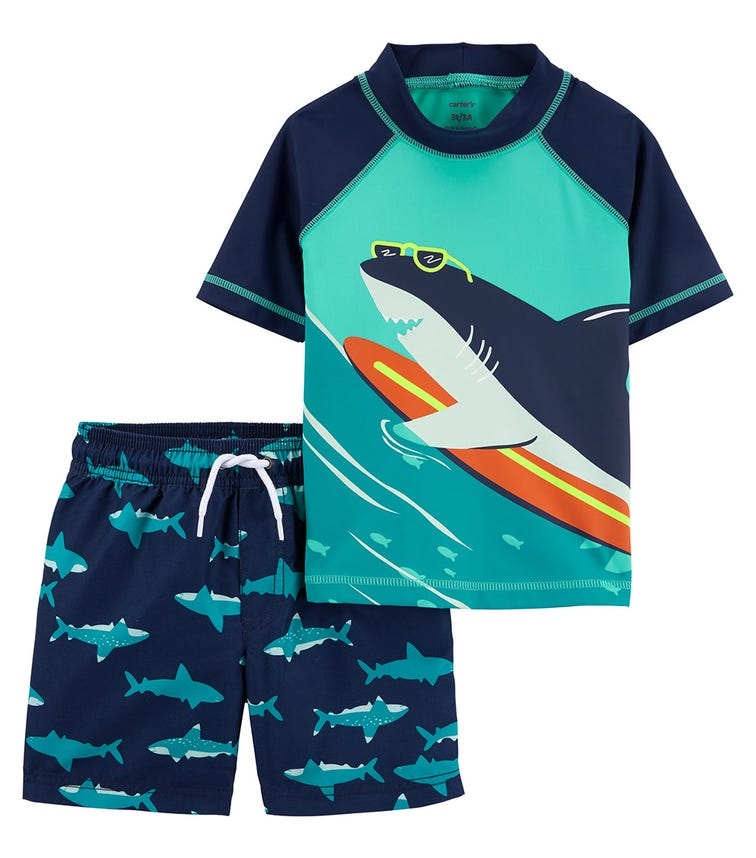 CARTER'S Shark Rashguard Set