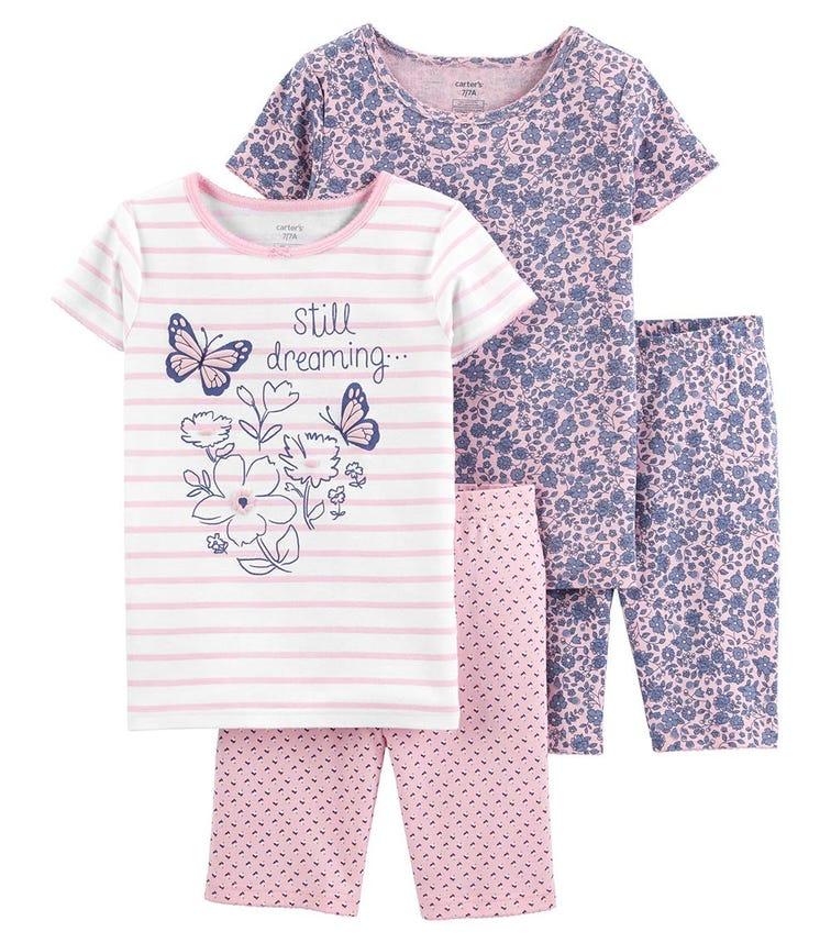 CARTER'S 4-Piece Butterfly 100% Snug Fit Cotton PJs