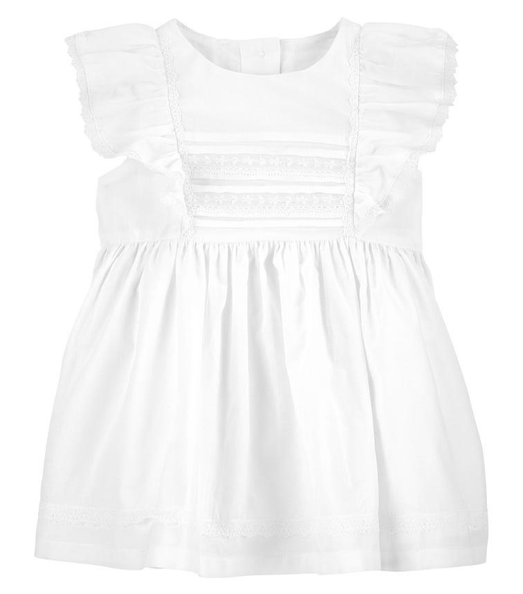 OSHKOSH Pintuck Lace Dress