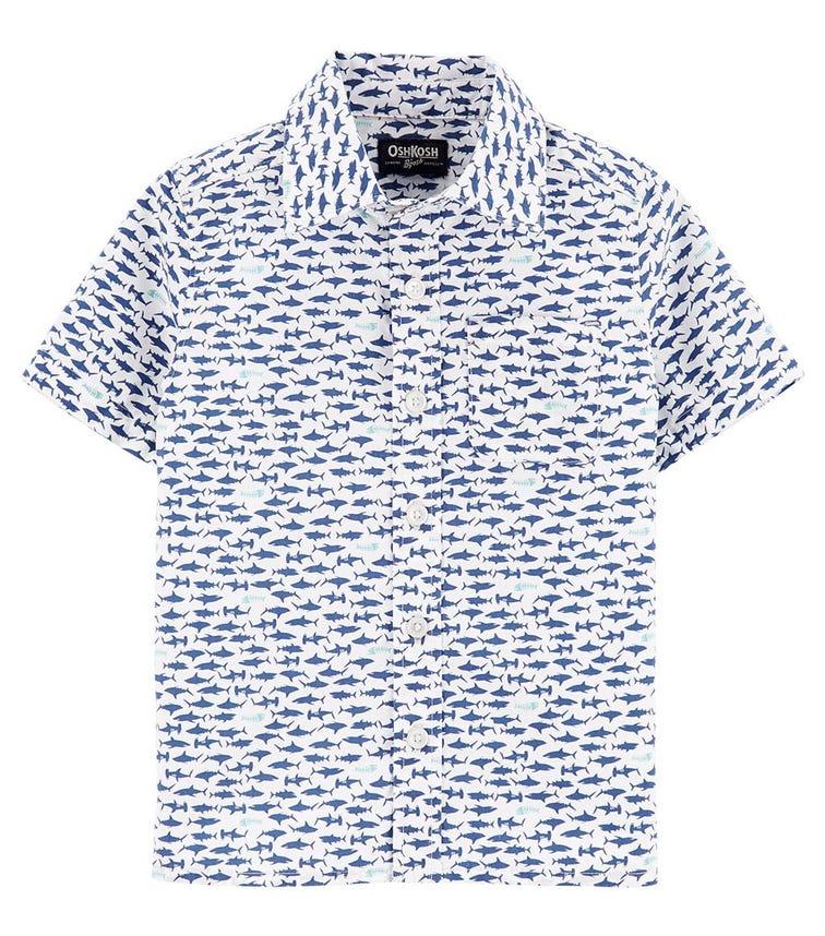 OSHKOSH Shark Button-Front Shirt