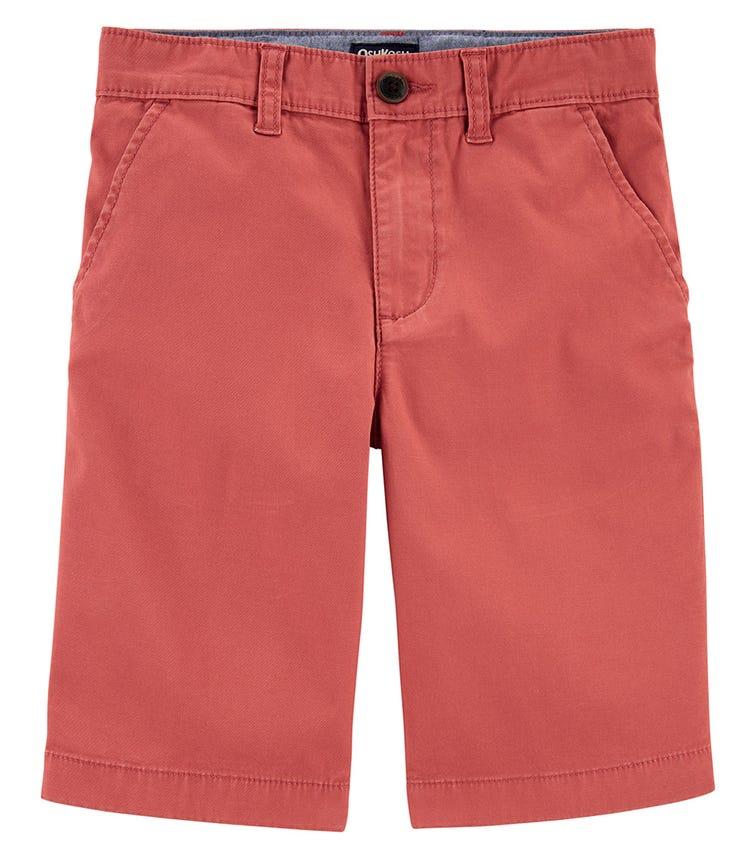 OSHKOSH Brick Red Stretch Chino Shorts