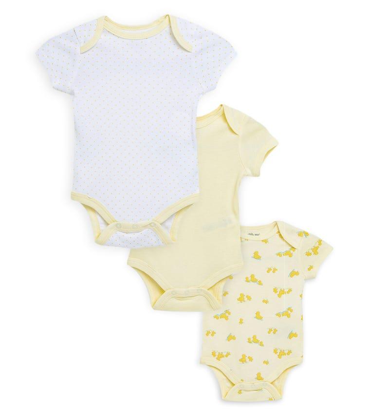 LITTLE ME 3-Pack Ducks Bodysuit