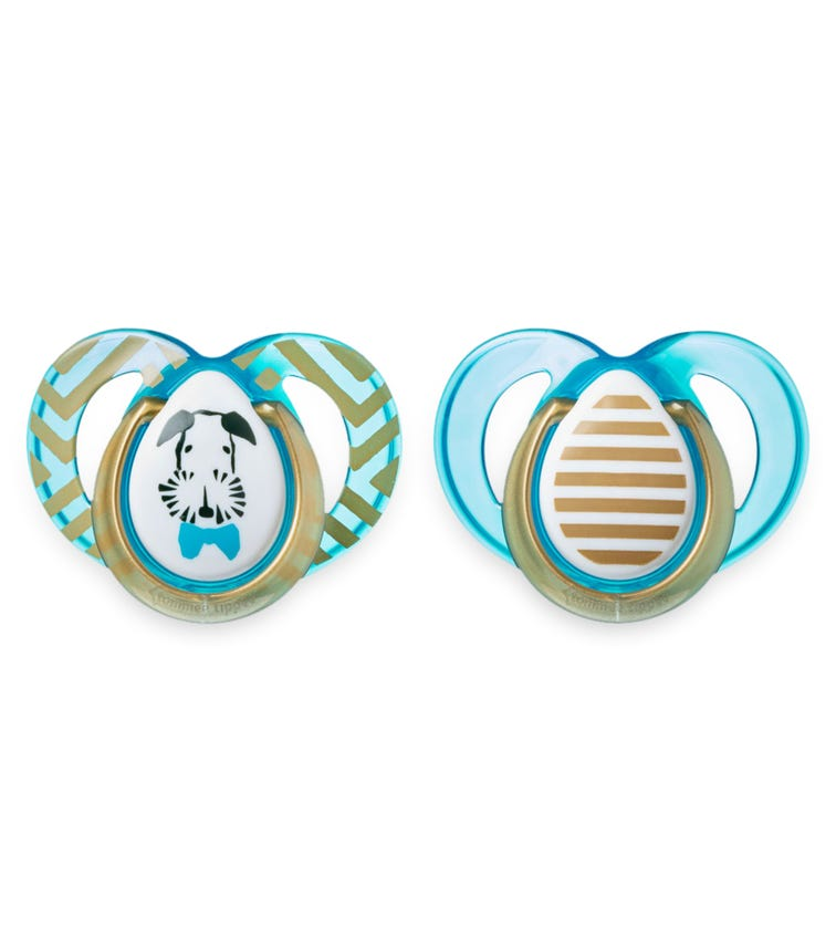 TOMMEE TIPPEE 2 Pack MODA Soother - Boy (6-18 Months)