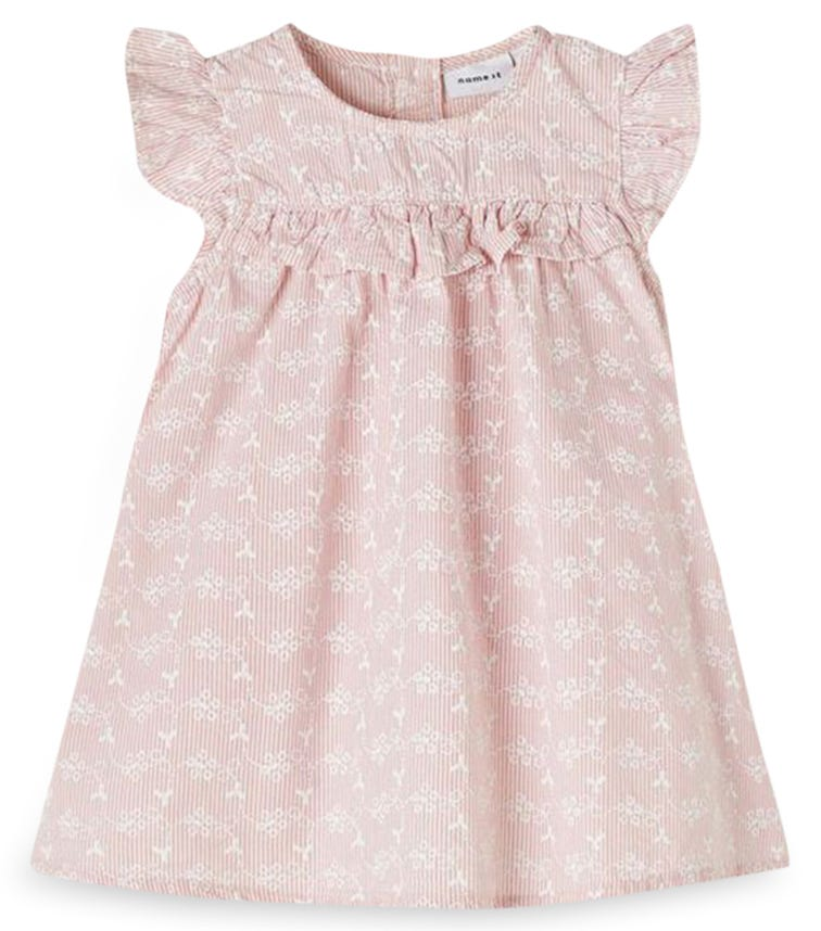 NAME IT Floral Print Ruffled Sleeve Dress