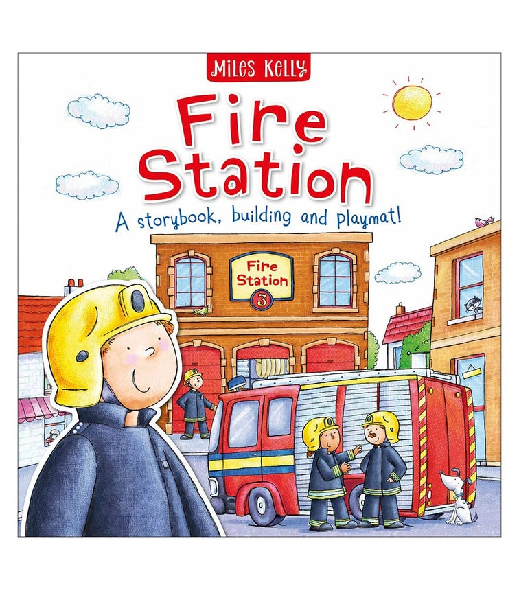 MILES KELLY Fire Station, A Story Book, Building And Playmat!