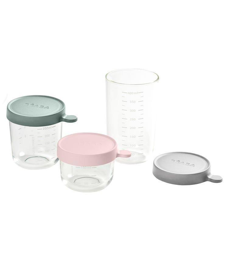 BEABA Conservation Jar Glass (Set Of 3) 150 ML + 250 ML + 400 ML