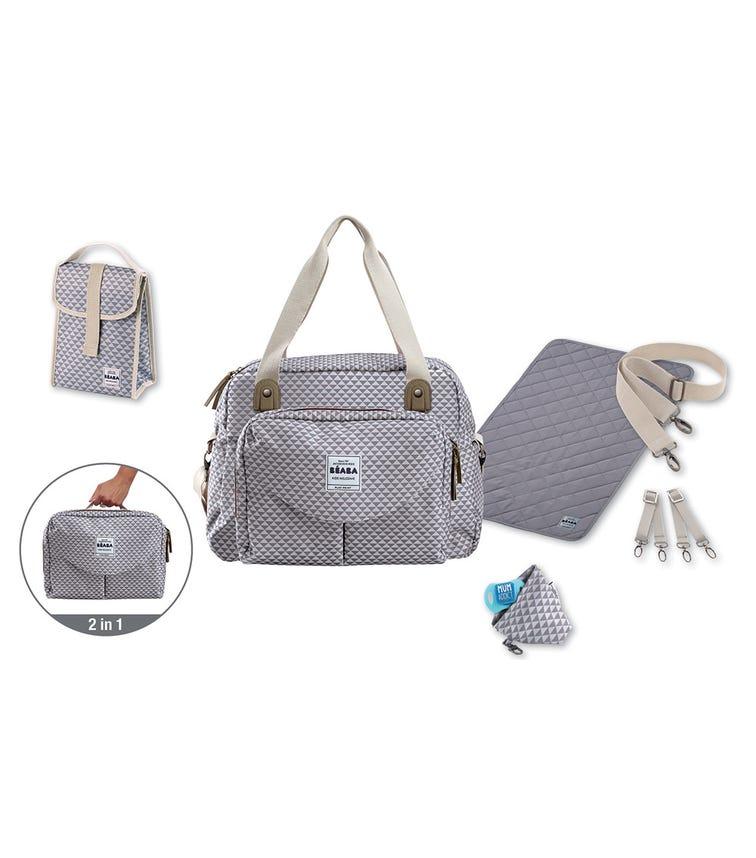 BEABA Geneva II Changing Bag - Playprint Grey